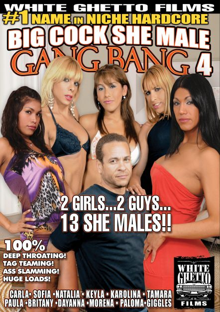 Big white cock gang bang