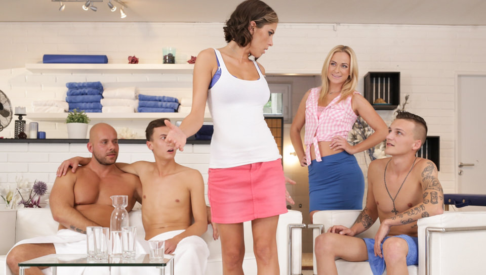 Spa Orgies – Vinna Reed, Andy West, Jace Reed, Alex Hell, Peter