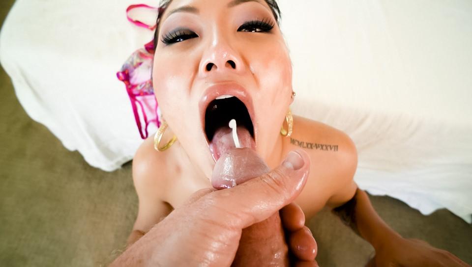 Asian Jade's Slobbery, Deep-Throat BJ